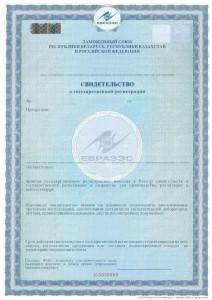 Образец: Свидетельство о Государственной регистрации